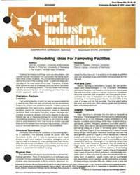 Pork Industry Handbook, Document E1531-1... by Larry D. Jacobson