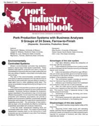 Pork Industry Handbook, Document E1533-1... by Raymond E. Massey