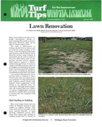 Lawn Renovation, Document E1547-1982 by Thomas M. Smith