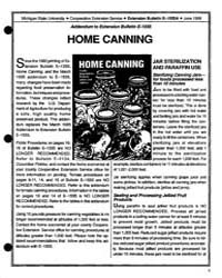 Home Canning, Document E1550-1988-a2 by Michigan State University