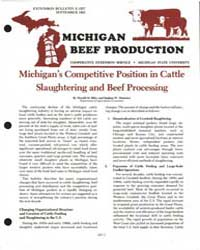 Michigan Beef Production, Document E1557... by Harold M. Riley