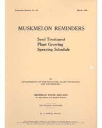 Muskmelon Reminders, Document E157 by Michigan State University