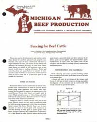 Fencing for Beef Cattle, Document E1570-... by Lester A. Burdette