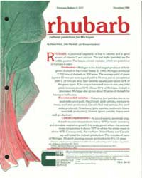 Rhubarb, Cultural Guidelines for Michiga... by Diana Helsel