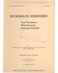 Muskmelon Reminders, Document E157Rev1 by Michigan State University