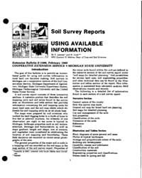 Soil Survey Reports Using Available Info... by G. Lemme