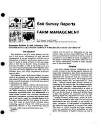 Soil Survey Reports Farm Management, Doc... by G. Lemme