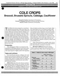 Cole Crops Broccoli, Brussels Sprouts, C... by Zandstra, Bernard H.