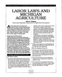Labor Laws and Michigan Agriculture, Doc... by Shapley, Allen E.