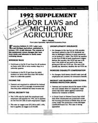 1992 Supplement Labor Laws and Michigan ... by Shapley, Allen E.