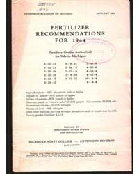 Fertilizer Recommendations, Document E15... by Michigan State University