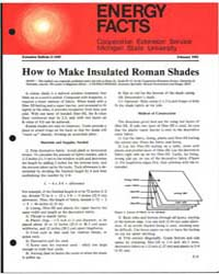 How to Make Insulated Roman Shades, Docu... by Michigan State University
