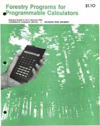 Forestry Programs for Programmable, Docu... by Kama R. Sterrett