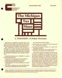 The Michigan Tax Maze, Document E1607-19... by Michigan State University