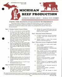 Michigan Beef Production, Document E1608... by Michigan State University