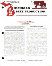 Michigan Beef Production, Document E1609... by Harlan D. Ritchie