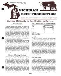 Michigan Beef Production, Document E1611... by Harlan D. Ritchie