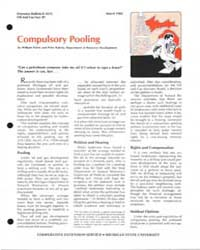 Compulsory Pooling, Document E1612-1982-... by William Patrie