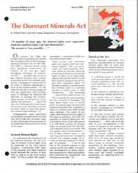 The Dormant Minerals Act, Document E1614... by William Patrie