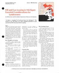 Oil and Gas Leasing in Michigan : Essent... by William Patrie
