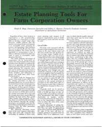 Estate Planning Tools for Farm Corporati... by Ralph E, Hepp