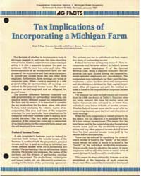 Tax Implications Of, Document E1620-1987... by Ralph E. Hepp.