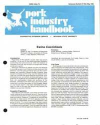 Swine Coccidiosis, Document E1622-1982 by Robert E. Hall