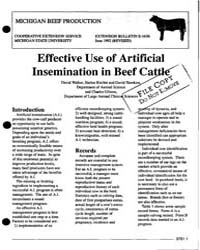 Effective Use of Artificial Insemination... by David Walker