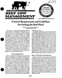 Beef Cow Management, Document E1637-1980 by Harlan D. Ritchie.