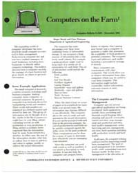 Computers on the Farm, Document E1638-19... by Michigan State University