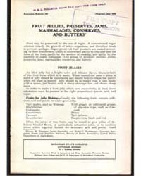 Fruit Jellies, Preserves, Jams,, Documen... by Michigan State University