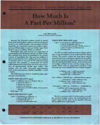 How Much is a Part Per Million?, Documen... by Marczewski, A. E.