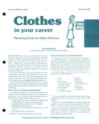 Clothes in Your Career Planning Guide fo... by Isabel Jones