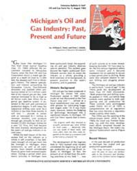 Michigan's Oil And, Document E1647-1982 by William C. Patrie