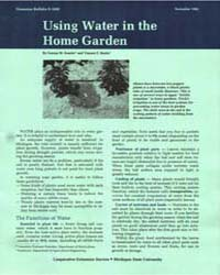 Using Water in the Home Garden, Document... by George M. Kessler'