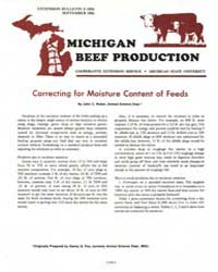 Michigan Beef Production, Document E1654... by Jhon C. Waller