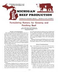 Michigan Beef Production, Document E1655... by Jhon C. Waller