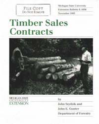 Timber Sale Contracts, Document E1656-19... by John Szydzik