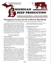 Michigan Beef Production, Document E1659... by Harlan D. Ritchie