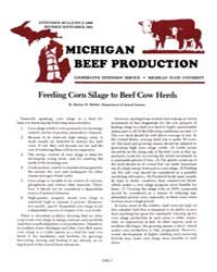 Michigan Beef Production, Document E1660... by Harlan D. Ritchie