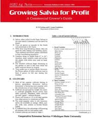 Growing Salvia for Profit a Commercial G... by W. H. Carlson