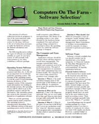 Computer on the Farm-software Selection,... by Roger Brook