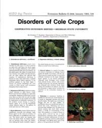 Disorders of Cole Crops, Document E1668-... by Christine T. Stephens
