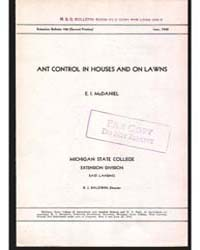 Ant Control in Houses and on Lawns, Docu... by E. I. McDaniel
