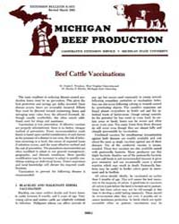 Michigan Beef Production, Document E1675... by Frank E. Woodson