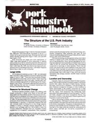 Pork Industry Handbook, Document E1676-1... by V. James Rhodes
