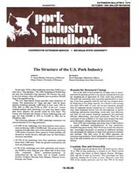 Pork Industry Handbook, Document E1676-1... by V. James Rhodes