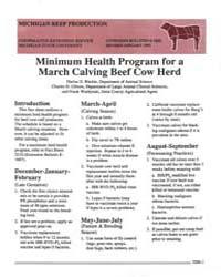 Minimum Health Program for a March Calvi... by Harlan D. Ritchie