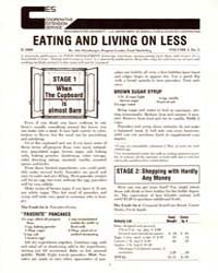 Eating and Living on Less, Document E169... by Shinabarger, Ada