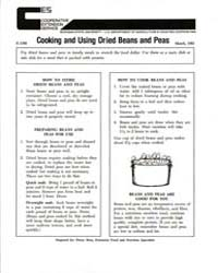 Cooking and Using Dried Beans and Peas, ... by Penny Ross